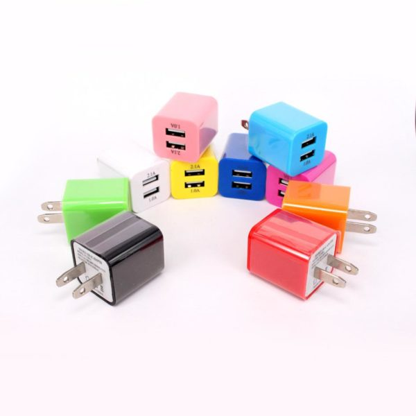 Wholesale supplier usb dual port wall home charger travel plug adapter