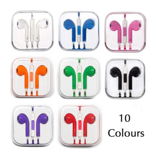 mic and volume control remote wired handsfree earphones for iPhone iPod iPad