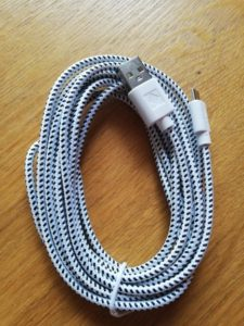 3ft Nylon Fabric Braided USB Cable photo review
