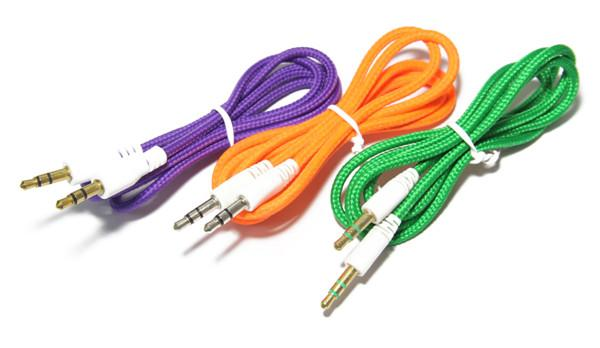 3.5mm braided aux music audio cable
