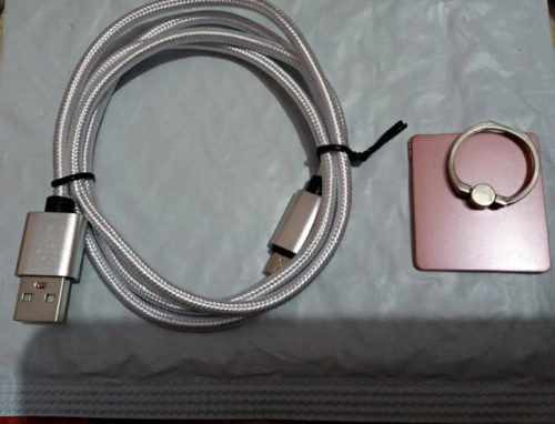 2.4A Nylon Braided Fast USB Cable [ Super Thick ] photo review